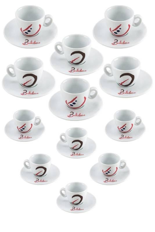 Zestaw filiżanek La Brasiliana Alba - Espresso i Cappuccino